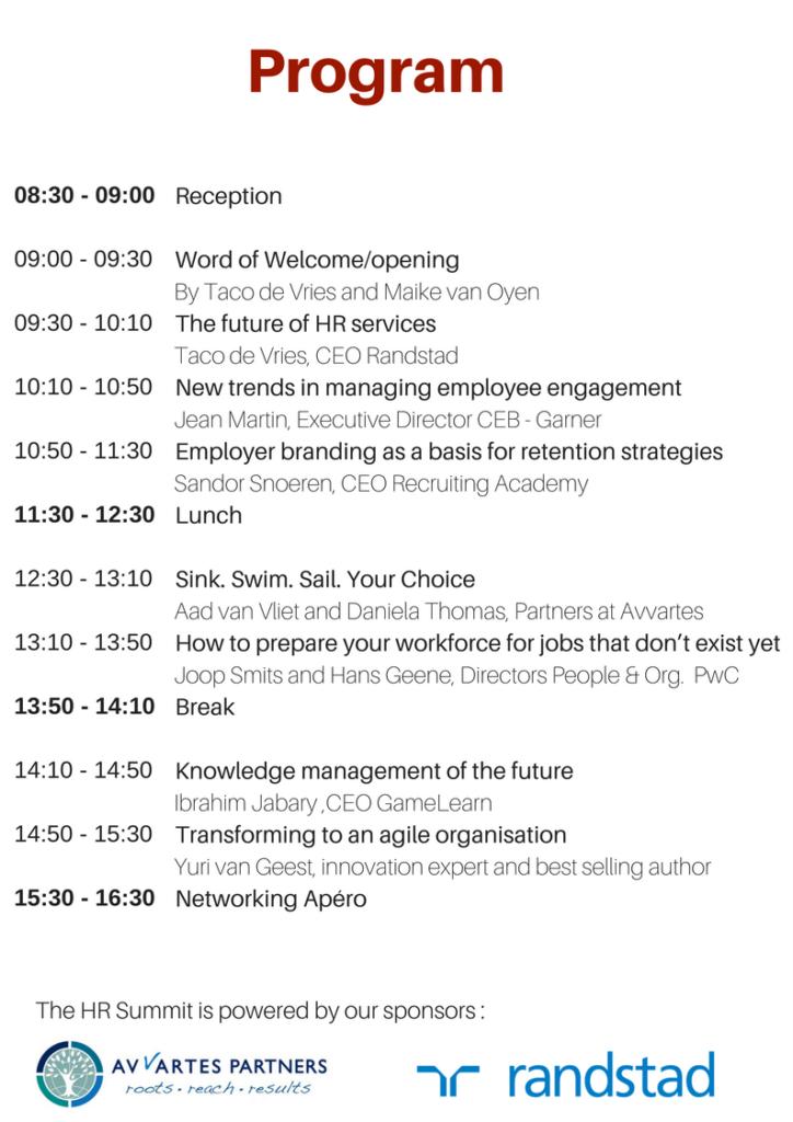 HR Summit Program in Zurich